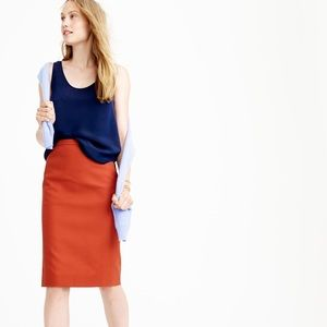 NWT J Crew No. 2 Pencil Skirt In Cotton Twill 8